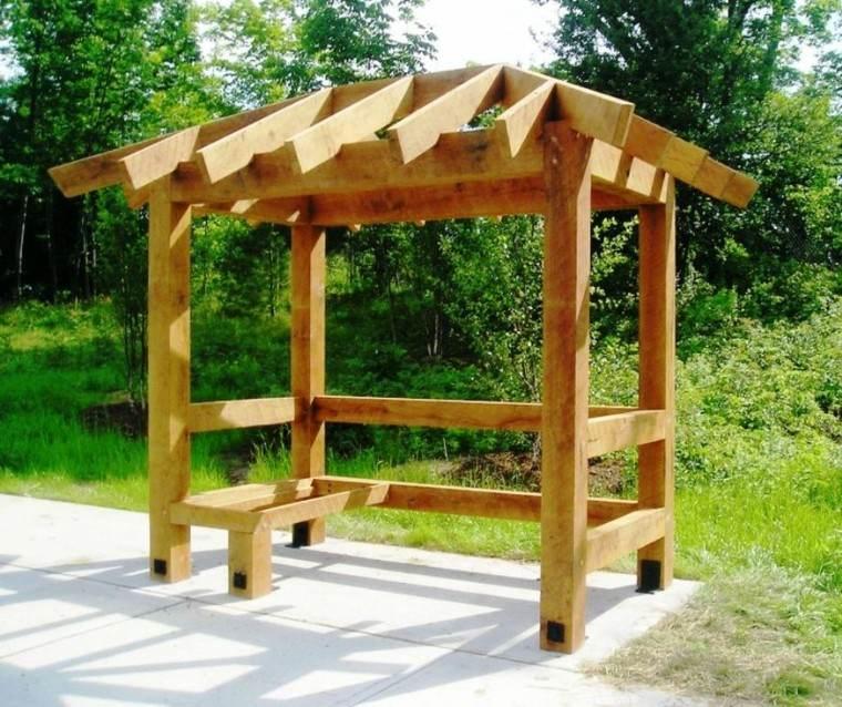 pequeña madera jardin diseño