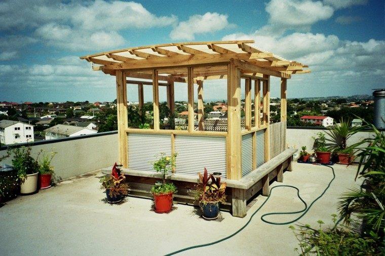 28 original pergolas terraza baratas - Pergolas de madera baratas ...