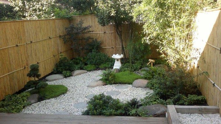 pequeño jardin estilo zen oriental