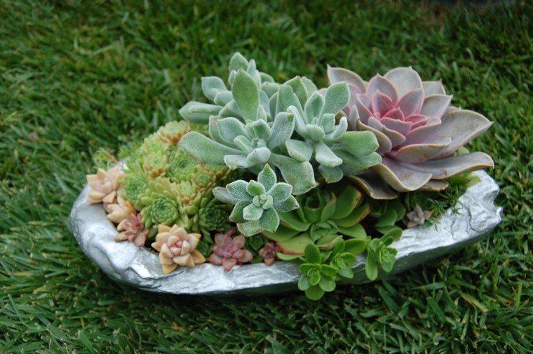 pequenas decoraciones jardin plantas ideas moderna
