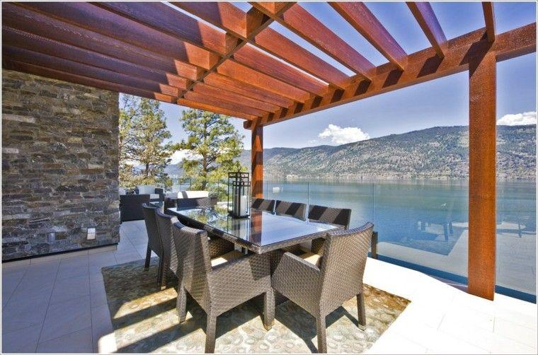 Ideas para terrazas patios o balcones acogedores for Tejados para pergolas