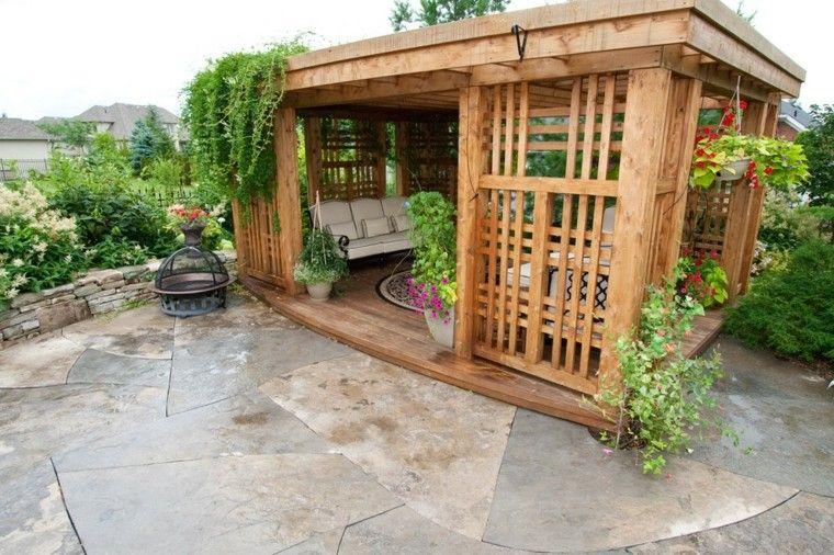 pergolas de madera caseta cubierta