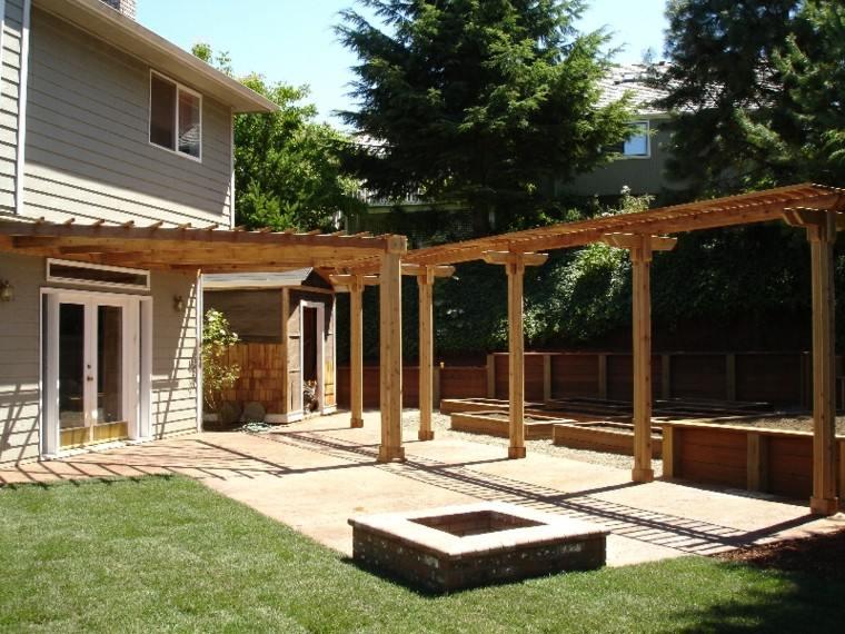 Pergolas baratas para jardin cheap pergolas madera sombra for Porche jardin madera