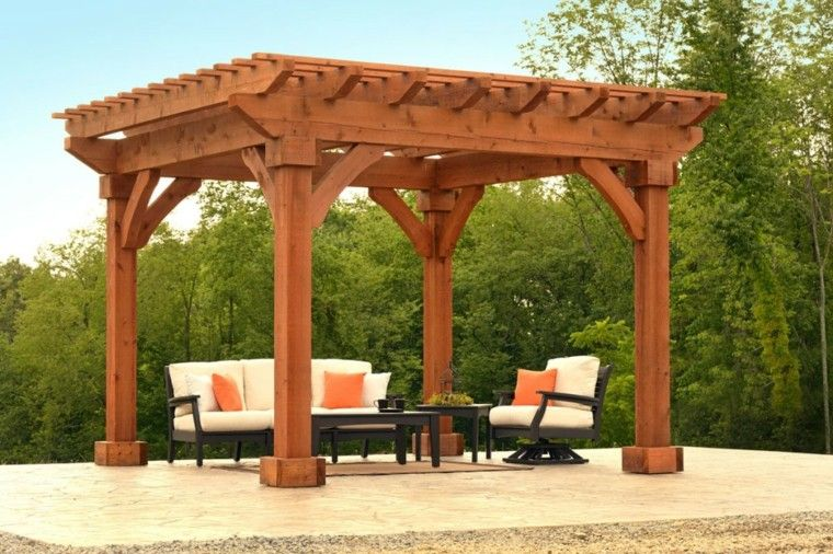 pergolas estilo seorial madera maciza - Pergolas Madera
