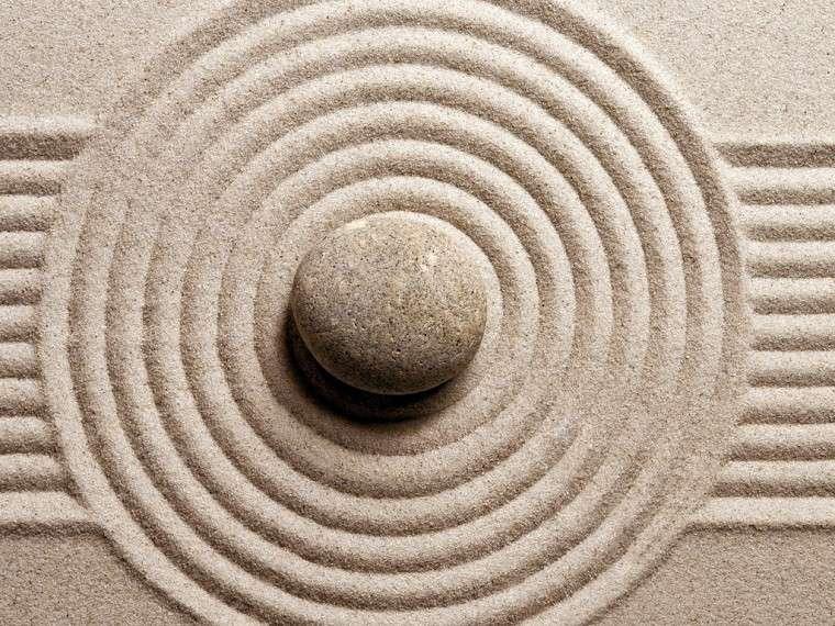 piedra jardin zen centro grava