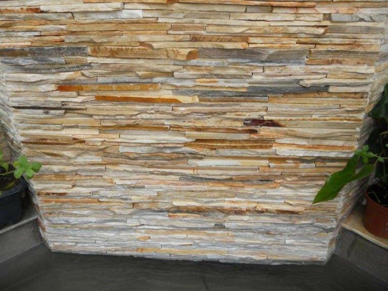 Revestimiento de paredes exteriores 50 ideas - Revestimiento en piedra para exterior ...