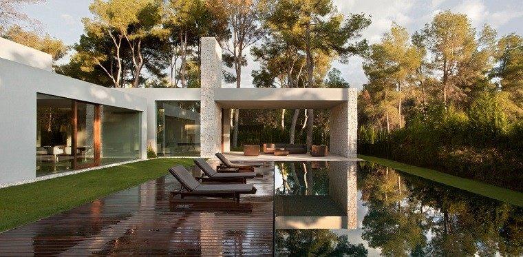 piscina estanque vistas reflejo espejo