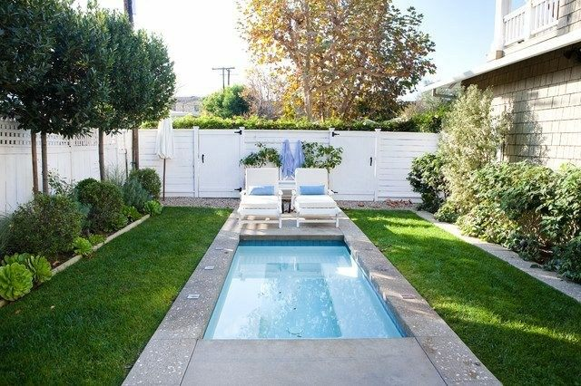 piscina moderna rectangular estanque jardin