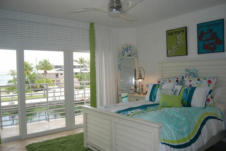 piscina verde tropical toque ventilador