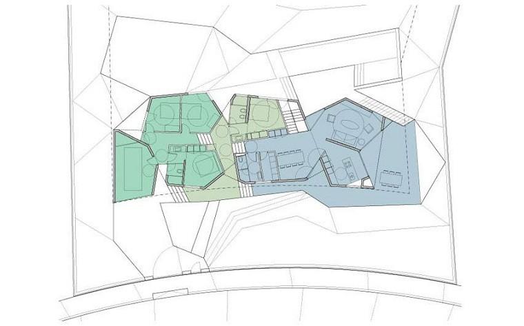plano arquitectura la casa planta