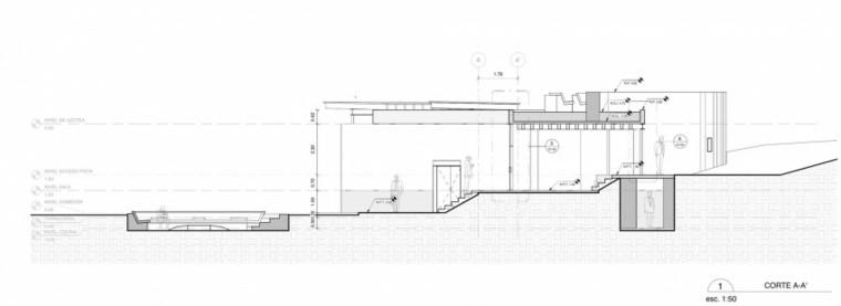 plano de seccion casa cueva