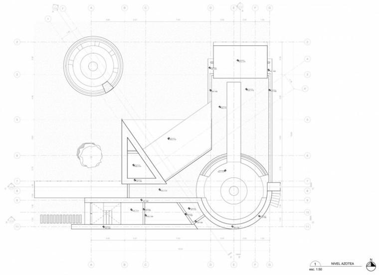 plano tejado casa cueva 1
