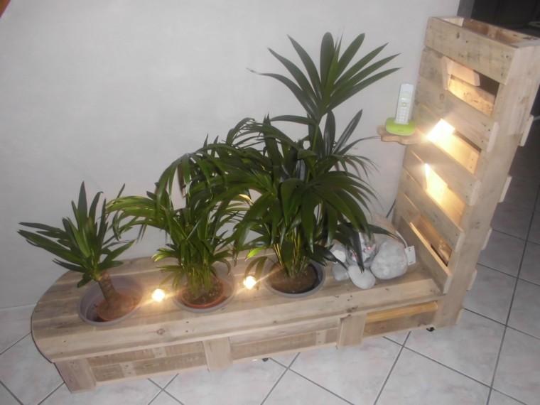 Muebles hechos con palets 100 ideas para el hogar - Luces para plantas de interior ...