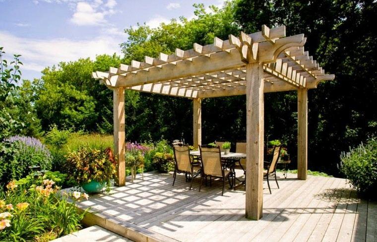 Pergolas de madera para el jard n m s de cincuenta ideas - Pergolas para jardines ...