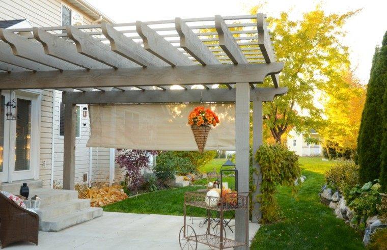 Pergolas de madera para el jardín - más de cincuenta ideas