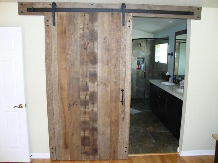 puerta corredera madera cuarto baño