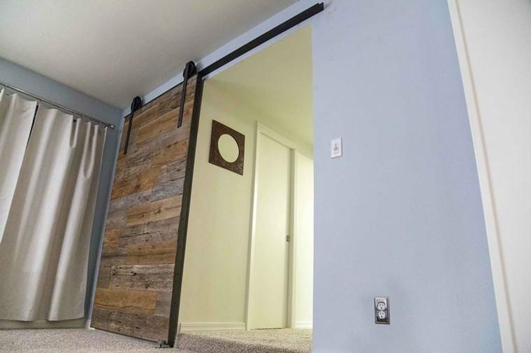 puerta corredera madera maciza deco