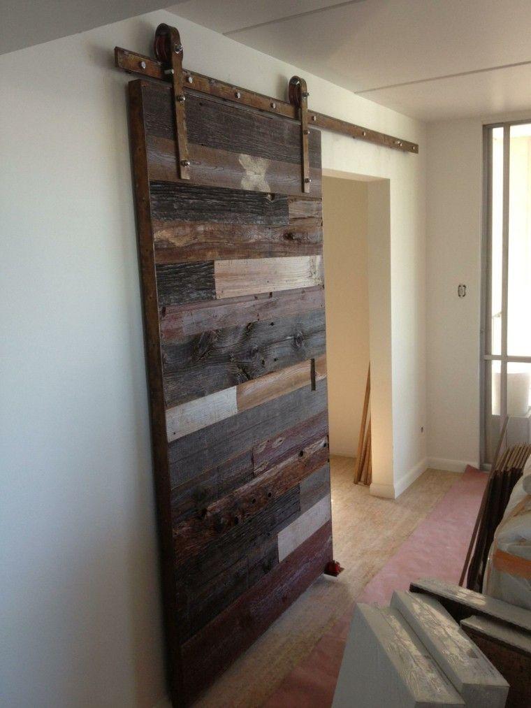 Puertas correderas de madera para el cuarto de ba o for Puertas corredizas de metal