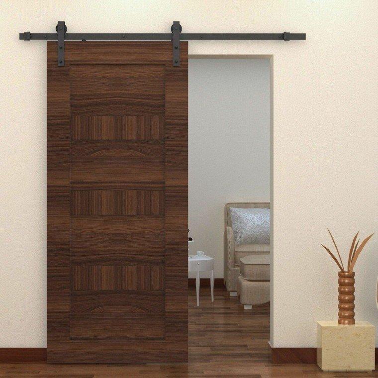 Puertas correderas de madera para el cuarto de ba o for Construir puerta corredera