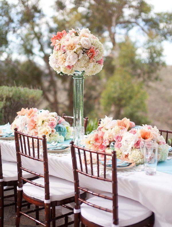ramo flores grande centro mesa