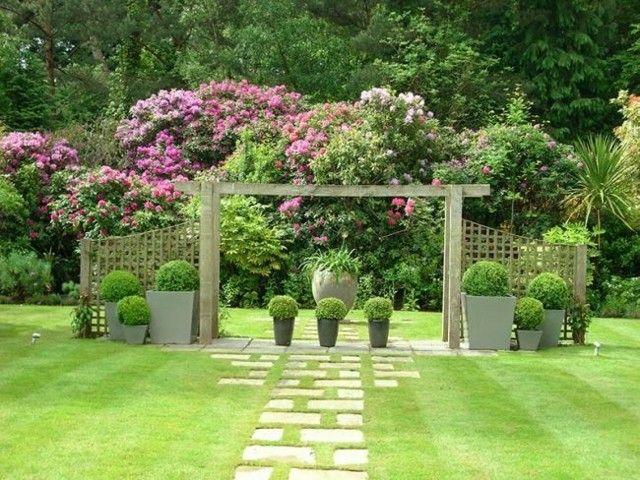 reja madera jardin plantas flores