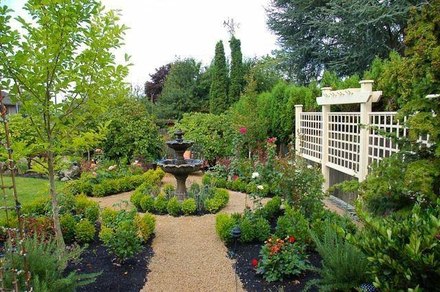 reja madera beige plantas jardin