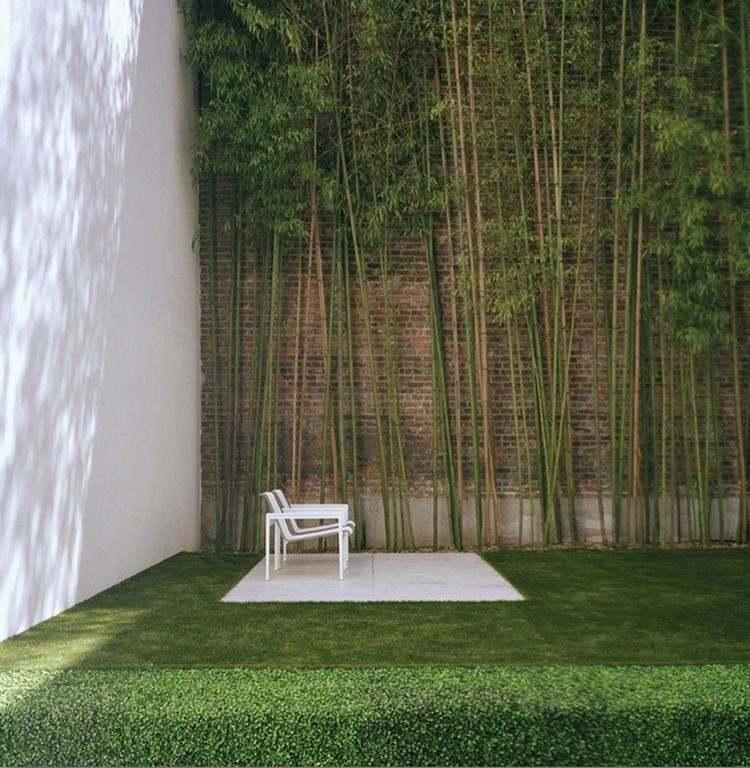 relajacion bambu silla cesped minimalista