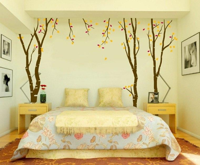 Revestimiento de paredes de dormitorios 50 ideas for Revestimiento de vinilo
