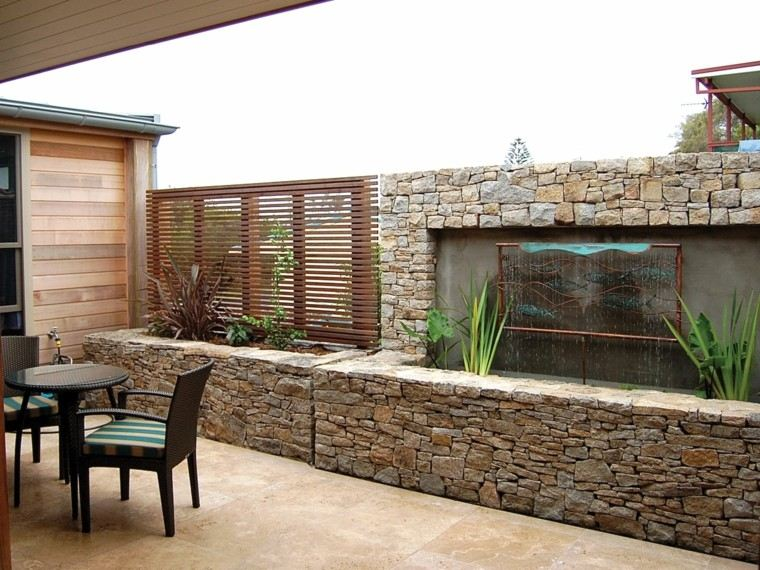 Revestimiento de paredes exteriores 50 ideas for Decoracion pared exterior