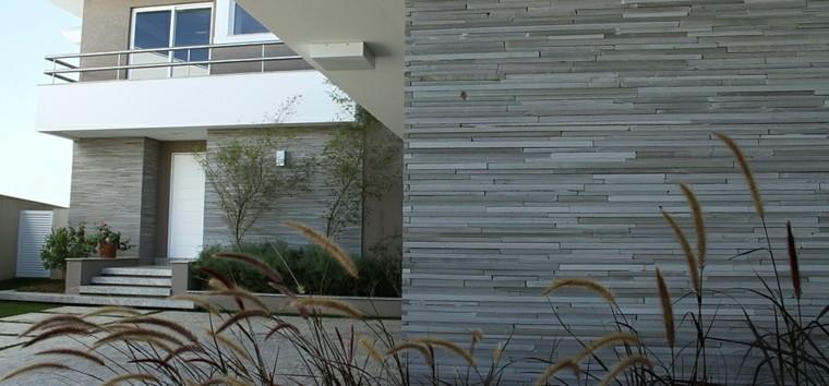 Paredes decoradas con piedra exterior - Revestimiento de pared exterior ...