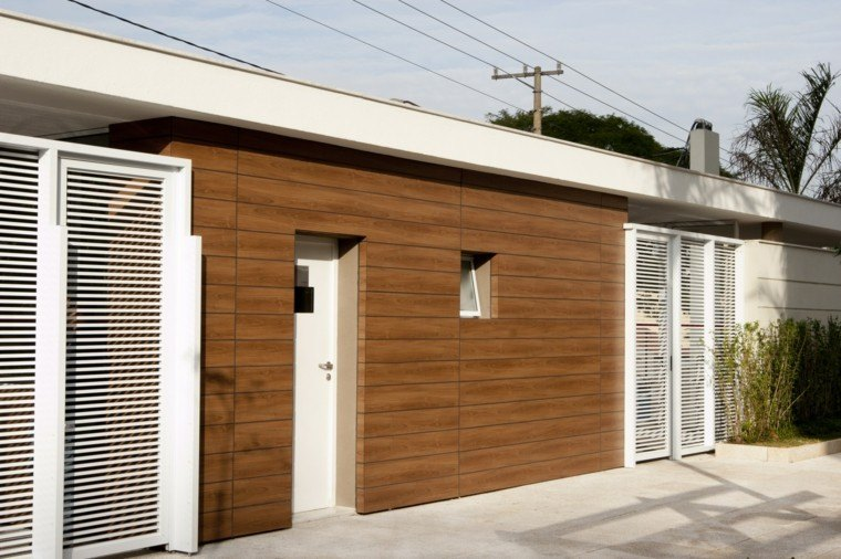 Revestimiento de paredes exteriores 50 ideas - Madera para exteriores ...