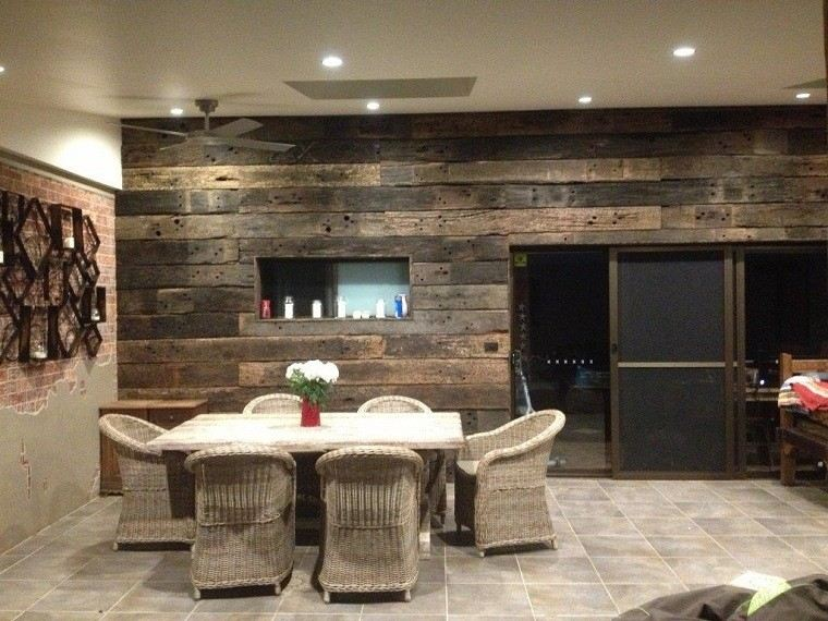 Revestimiento de paredes interiores creatividad y estilo for Planchas de madera para paredes