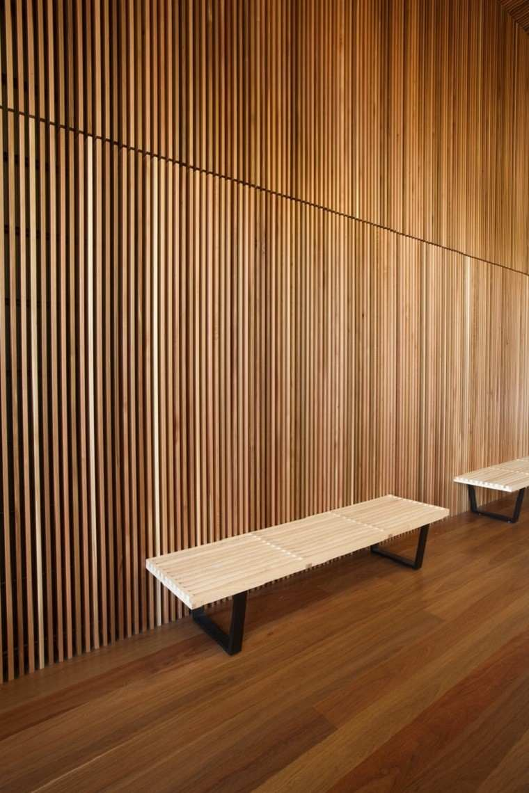 Interior Wood Cladding ~ Revestimiento de paredes interiores creatividad y estilo