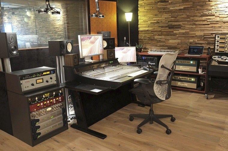 revestimiento de paredes interiores musica estudio lamparas
