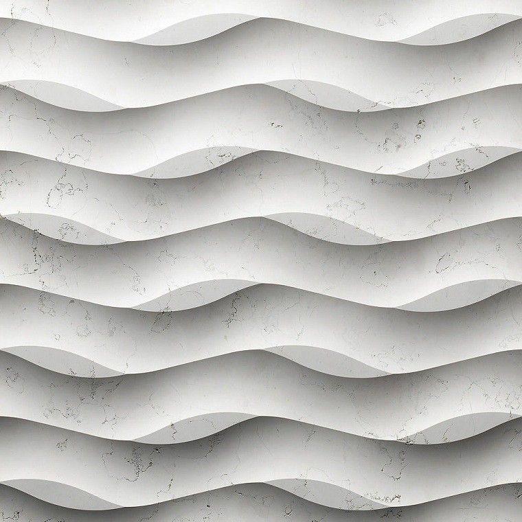 revestimiento de paredes interiores textura ondulada panel