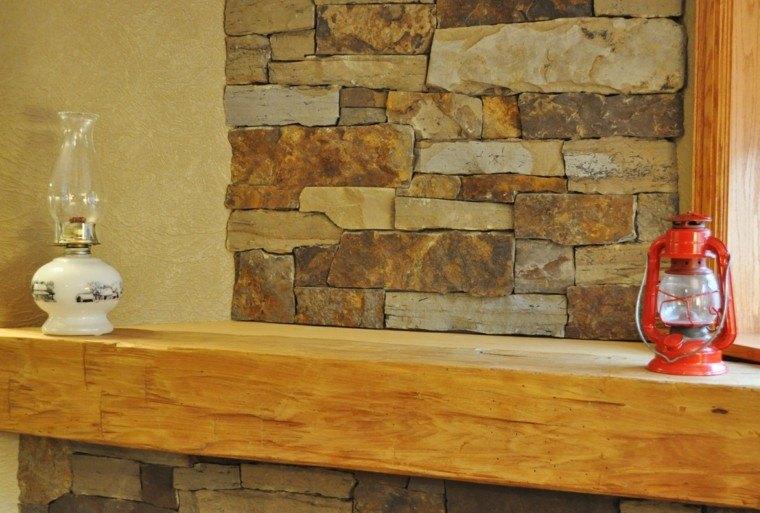 piedra y madera para los revestimientos de paredes On revestimiento en piedra para interiores