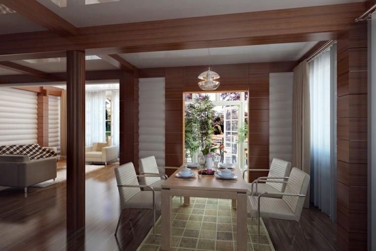 Interiores modernos 65 ideas para la decoraci n - Madera paredes interiores ...