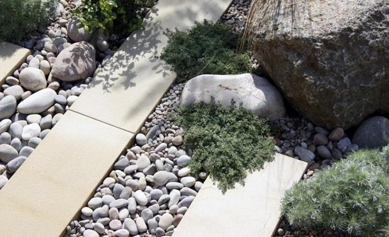 rocas grandes decorar piedras redondas