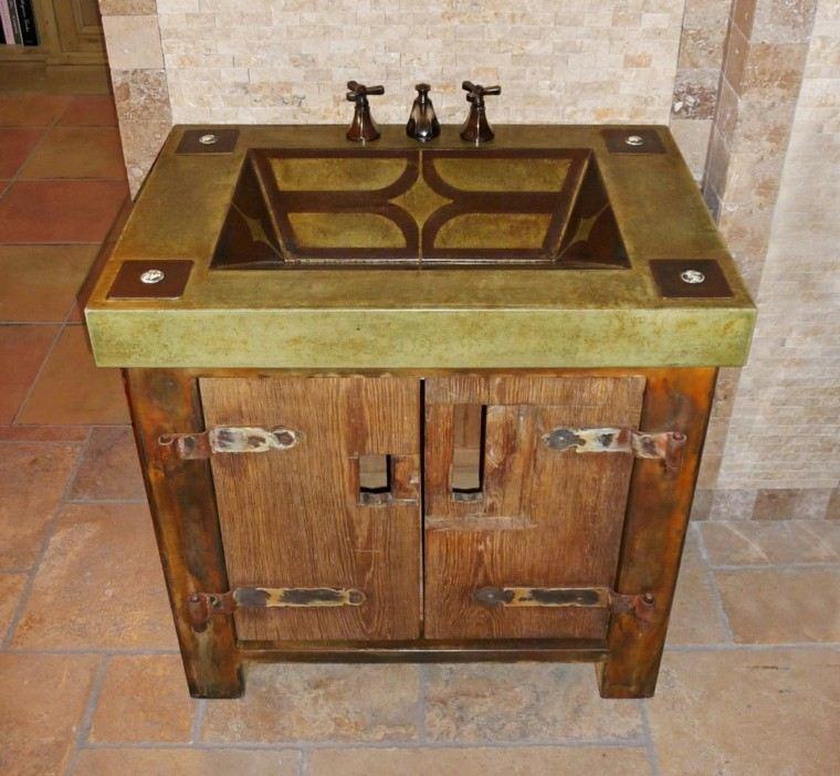 rustico baño lavabo ideas metal