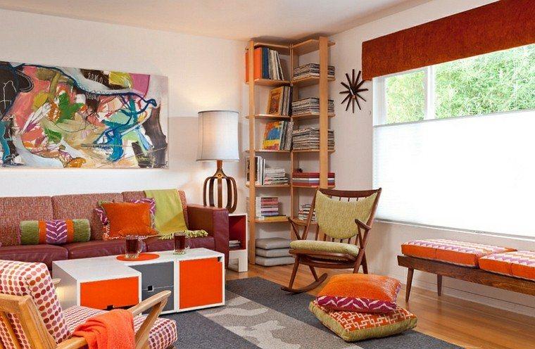 sala bohemia color naranja