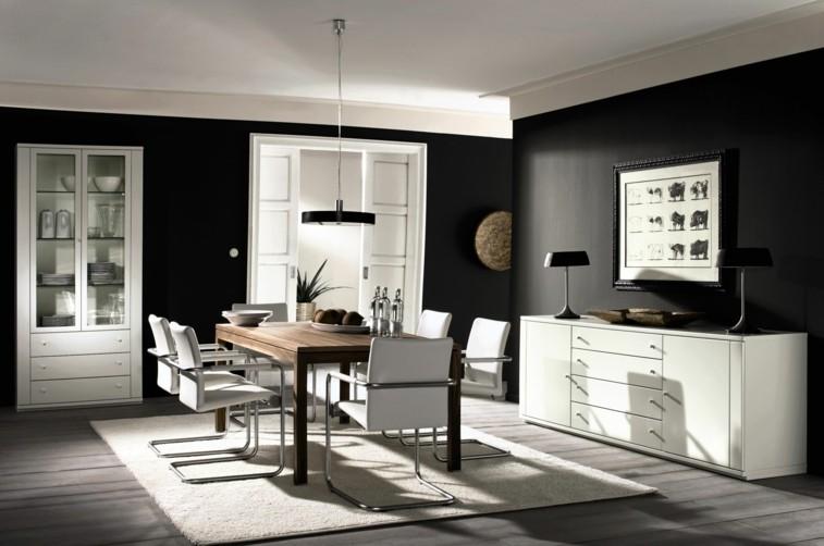 Decorar salas de estar en blanco y negro se atreve for Comedor negro con gris