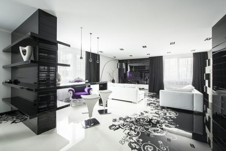 decorar salas estar brillo chic