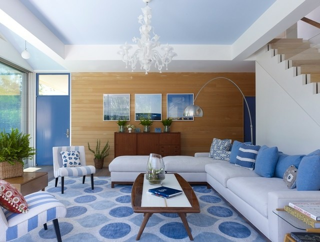 sala estar color azul marino