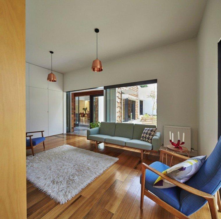 sala estar muebles azul sillon
