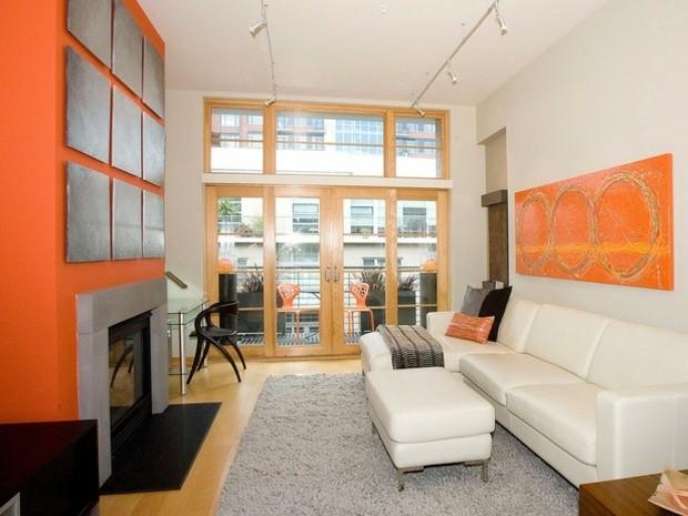 salas de estar colores clidos