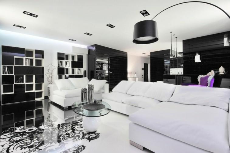 decorar salas estar blanco negro