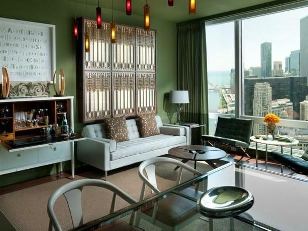 salon decoracion color verde