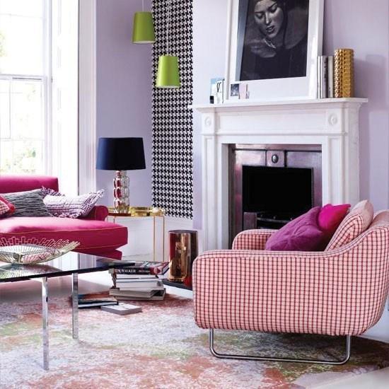 salon moderno chimenea combinacion varios colores ideas