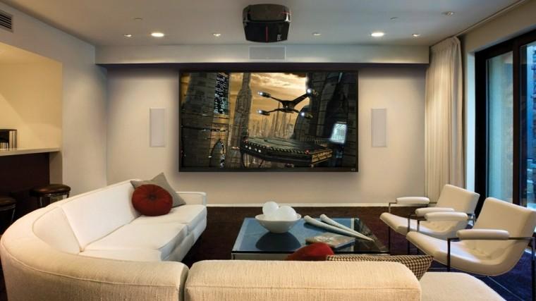 salon moderno cuadro espacial naves
