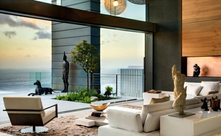 salon moderno jardin terraza arbol ideas naturalidad